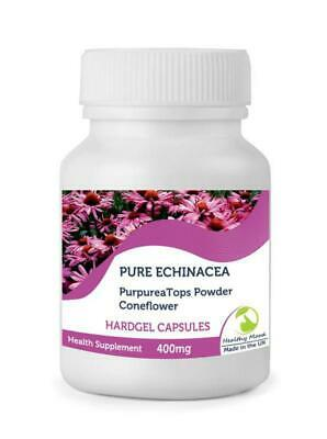 Echinacea 400mg Purpurea Tops Powder180 Capsules British Quality