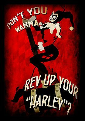 REV YOUR HARLEY PRINT A4 print on quality satin photo paper
