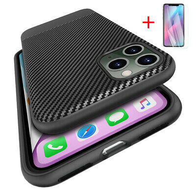 Ultra Slim Carbon Fiber Soft Rubber Case Cover For iPhone 8 7 6 Plus X XR XS MAX