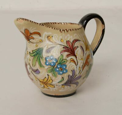 AMA Pesaro Italy Hand Painted Floral Jug CHIPPED