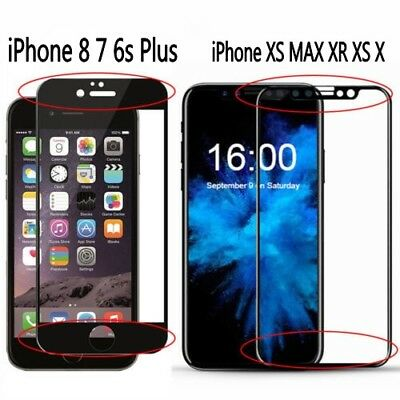 3D Curved Full Tempered Glass Screen Protector Cover For iPhone XS MAX XR GT New