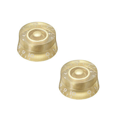 Gold Tone 6mm Potentiometer Knob For LP Electric Guitar Acrylic Volume Knob 2pcs