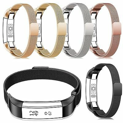 Stainless Mesh Milanese Magnet Loop Watch Band Strap Bracelet For FitBit Alta HR
