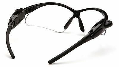 Pyramex PMXTREME LED Light Safety Glasses, Black Frame LED Temples / Clear Lens