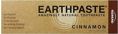 Earthpaste Natural Toothpaste, Redmond Trading Company, 4 oz Cinnamon
