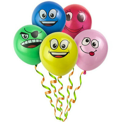 10 lots Latex Balloons Printed Big Eyes Smiley Happy Birthday Party Decoration