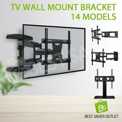 TV Bracket Wall Mount Plasma LED LCD Slim Flat Tilt Swivel Arm 32 40 42 55 65 80
