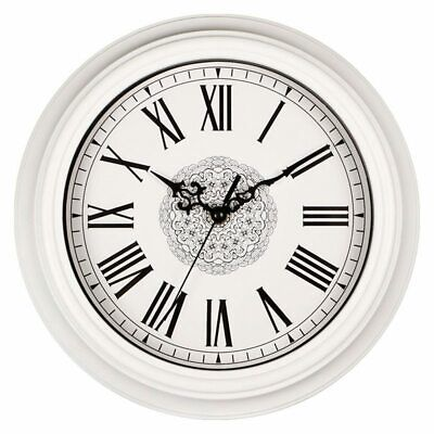 1X(12-Inch Silent Non-Ticking Round Wall Clocks, Decorative Vintage Style R S9M9