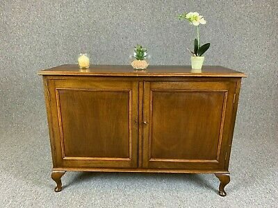 Small Mahogany Sideboard Antique Style With Cupboards Drinks Cabinet TV Stand