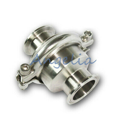 """1-1/2"""" OD 50.5mm Stainless Steel 304 Tri-Clamp Vertical Sanitary Check Valve"""