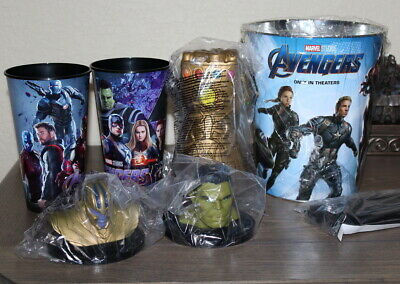 3 Marvel Avengers Endgame Cups Movie Theater Exclusive Promo Hulk Topper thanos