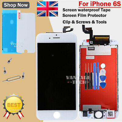 White For iPhone 6S LCD Screen Digitizer Display 3D Touch & Waterproof Tape Film