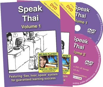 Learn to Speak Thai Language Course Vol 1 + 2: Book, DVD, Online Video (£23 OFF)