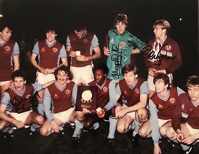 Aston Villa 1983 EUROPEAN Super Cup Winners HAND SIGNED Photograph x 3 Players