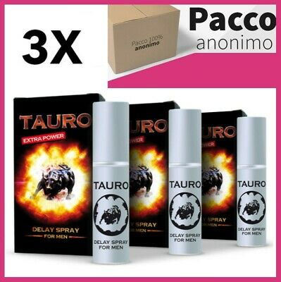 3 Ritardanti Spray Tauro Extra Power Ritardante 5ml Eiaculazione Precoce