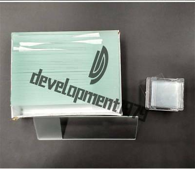 50PCS Blank Microscope Slides with 100PCS Square Cover Glass new