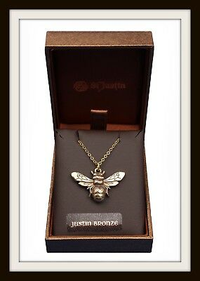 Bronze Bee Pendant Necklace ~  From St Justin ~ Free & Fast P&P