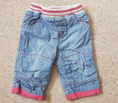 NEXT Baby Boys Age 3-6 Months Baby Jeans Soft Trousers Pull On Loose