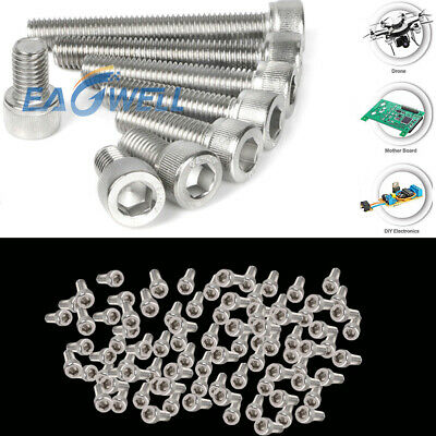 10/20/50/100pcs M3 Stainless Steel Allen Hex Bolt Socket Cap Screws Head DIN912