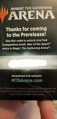 MTG ARENA | War of the Spark Prerelease Code | Free Competitive Draft