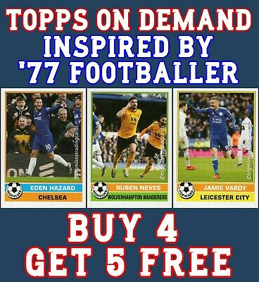 Topps On Demand Premier League Footballer 77 - Retro Base Cards Buy 4 Get 5 Free