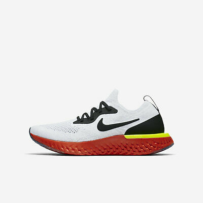 new concept a6f1b 5ffe8 Nike Epic React Flyknit GS  943311-103  Kids Running Shoes White Black