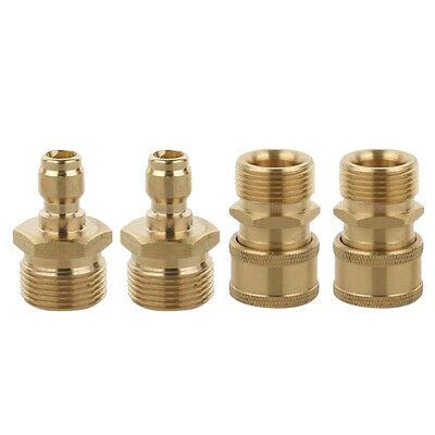 4Pcs M22x1.5mm Pressure Washer Hose Connector Quick Coupler Male & Female