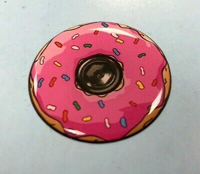 Pink Iced Donut Sticker/Decal 35mm HIGH GLOSS DOMED GEL FINISH