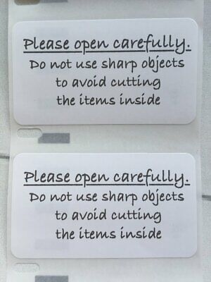 Please Open Carefully Stickers - Business Packaging, Handle with Care Labels!