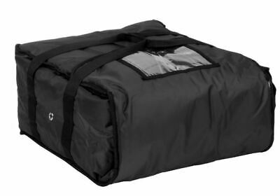 """ServIt Insulated Pizza Delivery Bag, Black Soft-Sided Heavy-Duty Nylon, 16"""" x 16"""