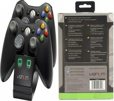 Venom Xbox 360 Twin Docking Station with 2 x Rechargeable Battery Packs...