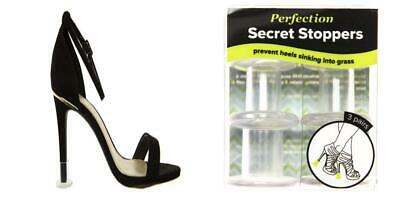 Perfection Secret Stoppers - Ladies' Clear Heel Protectors For High Heels -...