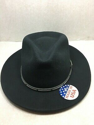 eaa1c78704548 New With Tag Stetson Gilpin Crushable Water Repellent Men s Wool Hat Black  Usa