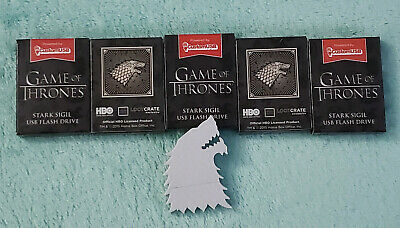Game of Thrones 5 BFF Lot Set 4GB USB Flash Drive House Stark Sigil Direwolf HBO