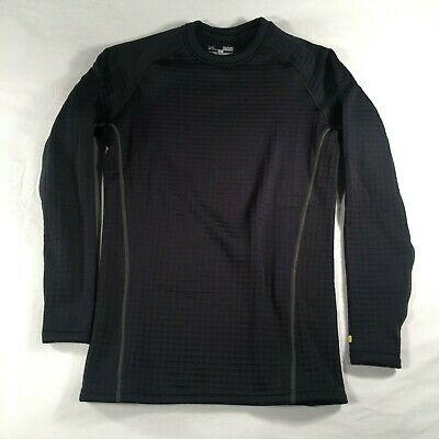 b8a25729c Under Armour Base 4.0 Fitted Cold Gear Thermal Sz Medium Black Waffle Knit  Layer