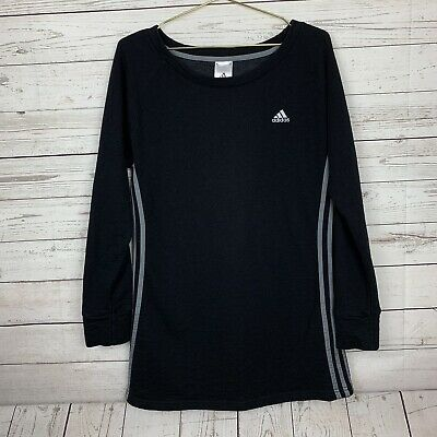 66e4e0469ec ADIDAS LOGO BLACK White 3-Stripes Short Sleeve Stretch Knit Raglan ...