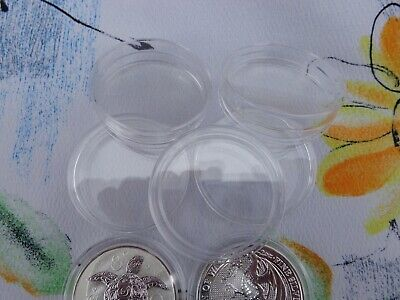 FIVE - H39-2 double thick capsule fits Queens Beast coins