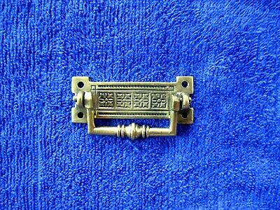 "Antique Victorian 1887 2.5"" Cast Brass Furniture Handle Rd No16464.Drawer pull"