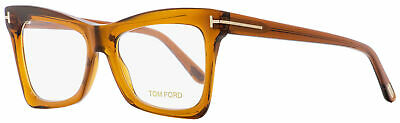 Tom Ford Butterfly Eyeglasses TF5457 044 Transparent Brown 52mm FT5457