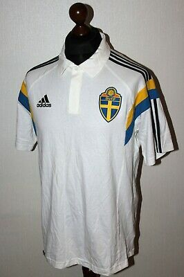 Sweden National Team training polo shirt Adidas Size L 2014