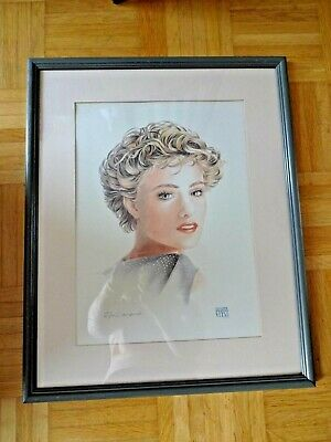 ** Reduced** L'oreal Signed Framed Print Picture Hairdresser Salon Beauty