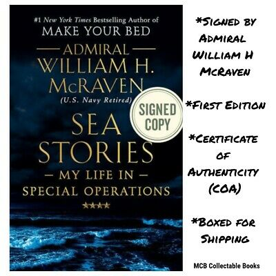 !SIGNED 1/1! Sea Stories Admiral William H McRaven (Make Your Bed) PreSale 5/21