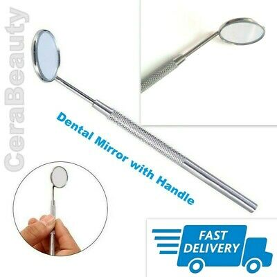 Dental Mirror with Handle Excellent Quality Surgical / Dental Students / Dentist