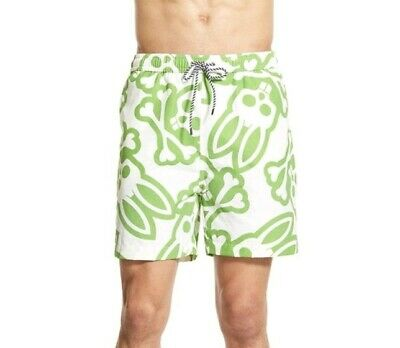 4a6b535c707ef Nwot Psycho Bunny Men's Graphic Swimwear Trunks Shorts Size L Large Msrp  $115
