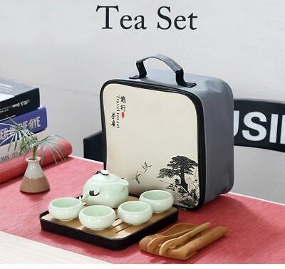 Chinese Travel Kung Fu Tea Set Ceramic Portable Porcelain Gaiwan Tea Cups Of Tea