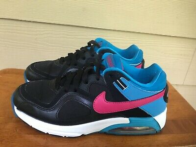 bf3827d839 Nike Air Max Go Strong Women's Athletic Running Shoes Black Blue Size 7.5