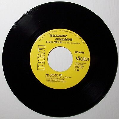 ELVIS PRESLEY All shook up / That's when your heartaches 45 RPM RCA 447-0618 NM