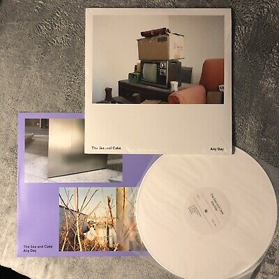 The Sea and Cake ANY DAY Record LP; white colored vinyl, New