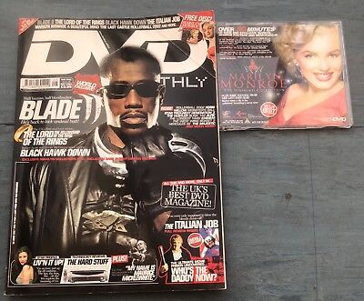 DVD Monthly Magazine 28 August 2002 Blade cover plus disc