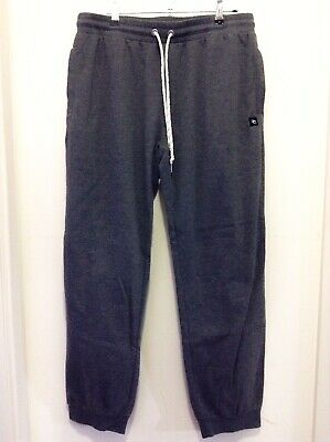 ⭐️ Rip Curl Men's Dark Grey Trackies Trackpants Cuffed Size Medium